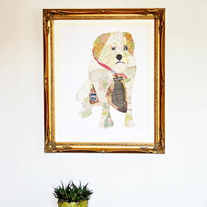 DIY Fabulous Map Portrait of Your Pet