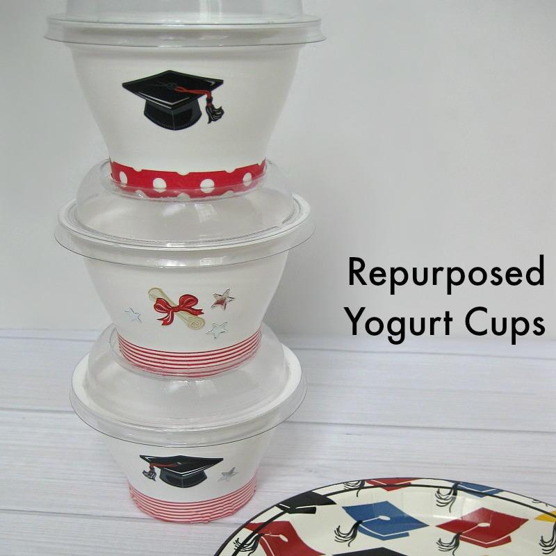 Repurposed Yogurt Cup Graduation Treat