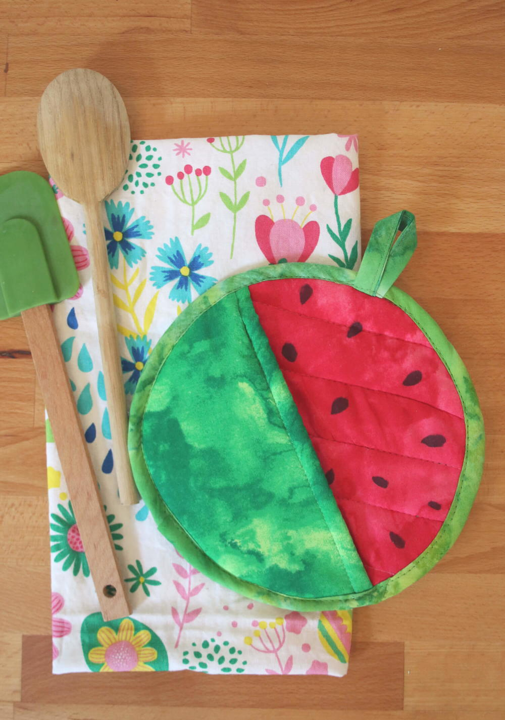 watermelon diy pot holder potholder sewing craft easy projects fat quarter very crafts summer patterns tutorial simple project holders potholders