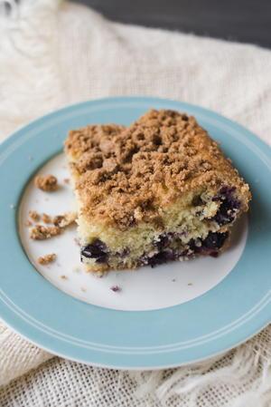 Warm Cinnamon-Spiced Blueberry Cake | Cookstr.com