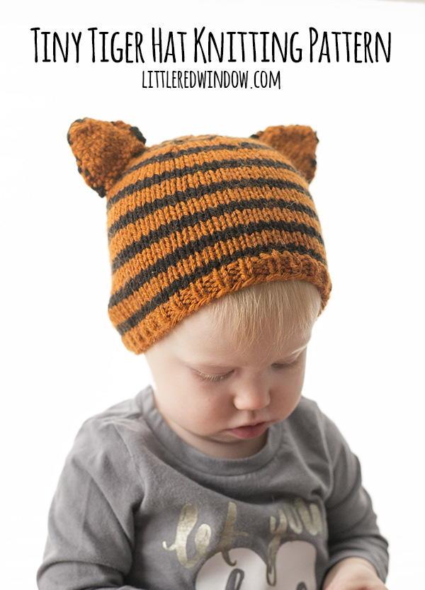 Tiny Tiger Hat Knitting Pattern Allfreeknitting Com