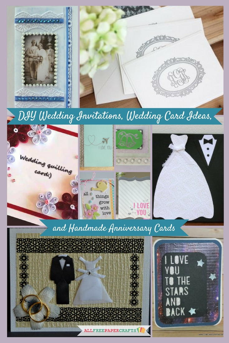 20+ DIY Wedding Invitations, Wedding Card Ideas, and Handmade Anniversary  Cards | AllFreePaperCrafts.com