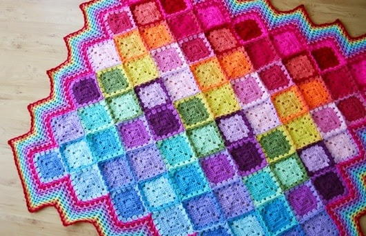 Happy Harlequin Crochet Afghan Allfreecrochetafghanpatternscom