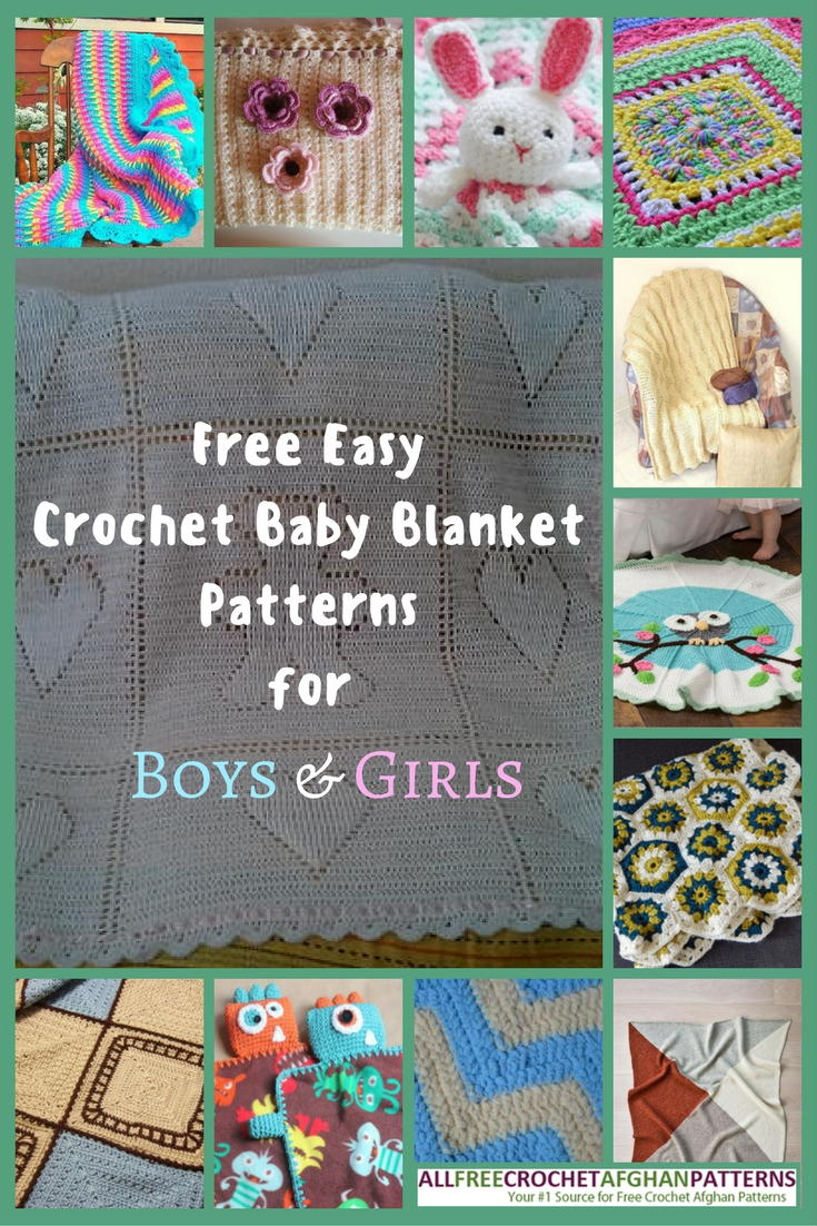 34 Free Easy Crochet Baby Blanket Patterns For Boys Girls Allfreecrochetafghanpatterns Com