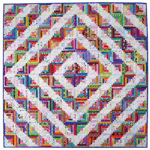 Barn Raised Log Cabin Quilt Favequilts Com