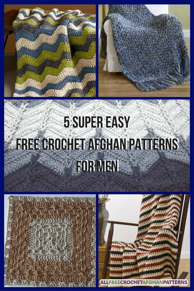 5 Super Easy Free Crochet Afghan Patterns for Men ...