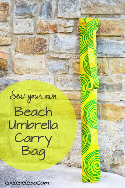 DIY Beach Umbrella Carry Bag with Shoulder Strap