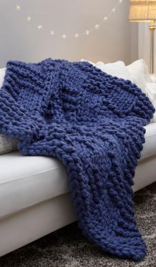 Basketweave Chunky Knit Blanket Pattern Allfreeknitting Com