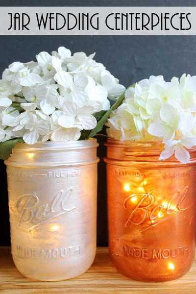 Mason Jar Wedding Centerpieces