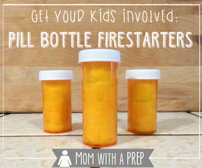 DIY Pill Bottle Firestarters