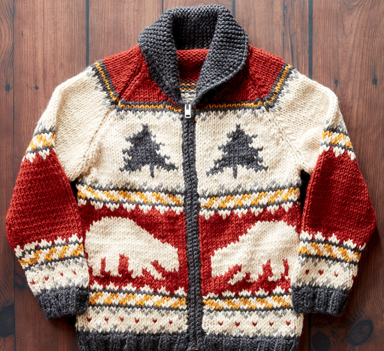 Polar Bears and Pine Knit Sweater