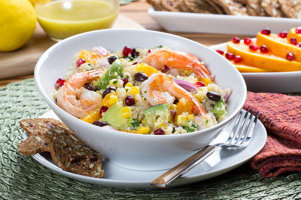 Quinoa Shrimp Bowl