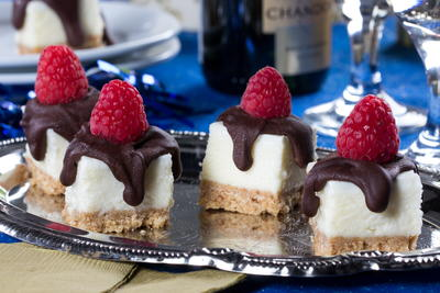 Chocolate-Crowned Cheesecake Squares