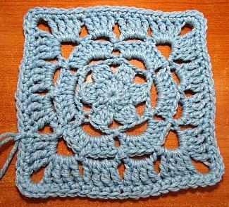 Lacy Flower Granny Square Pattern Allfreecrochetafghanpatternscom