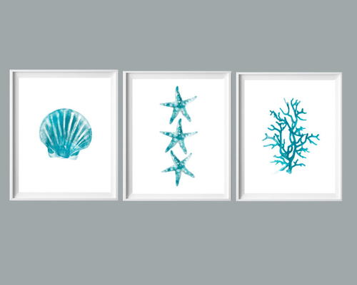 Turquoise Beach Watercolor Printables