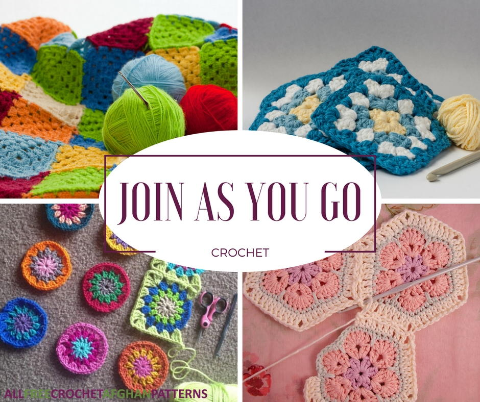 Join As You Go Crochet How To Connect Granny Squares And