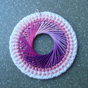 Spirograph Necklace Plastic Canvas Tutorial