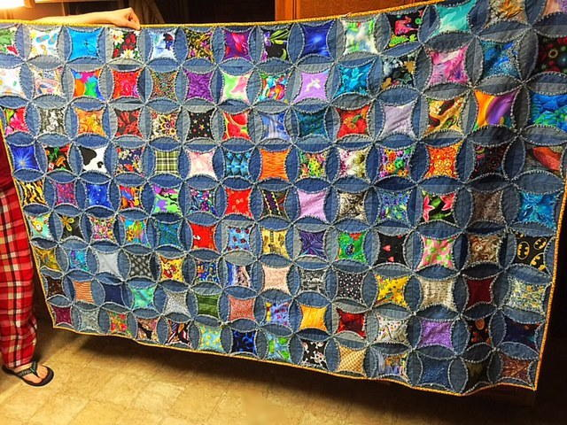 Upcycled Denim Rag Quilt Favequilts Com
