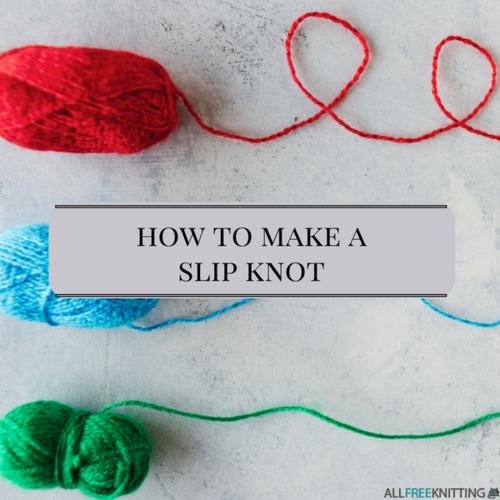 Knitting Stitches Slip Knot : Knitting Tutorial: How to Make a Slip Knot AllFreeKnitting.com
