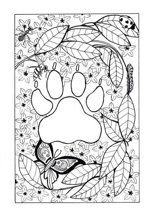 In the Jungle Adult Coloring Page