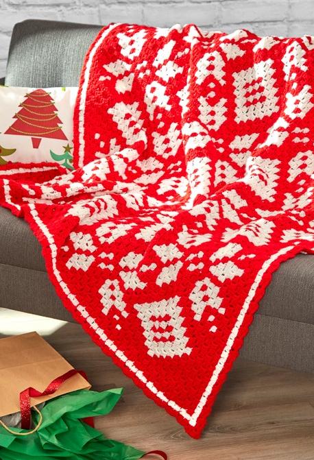 Snowflake Afghan Corner To Corner Crochet Pattern