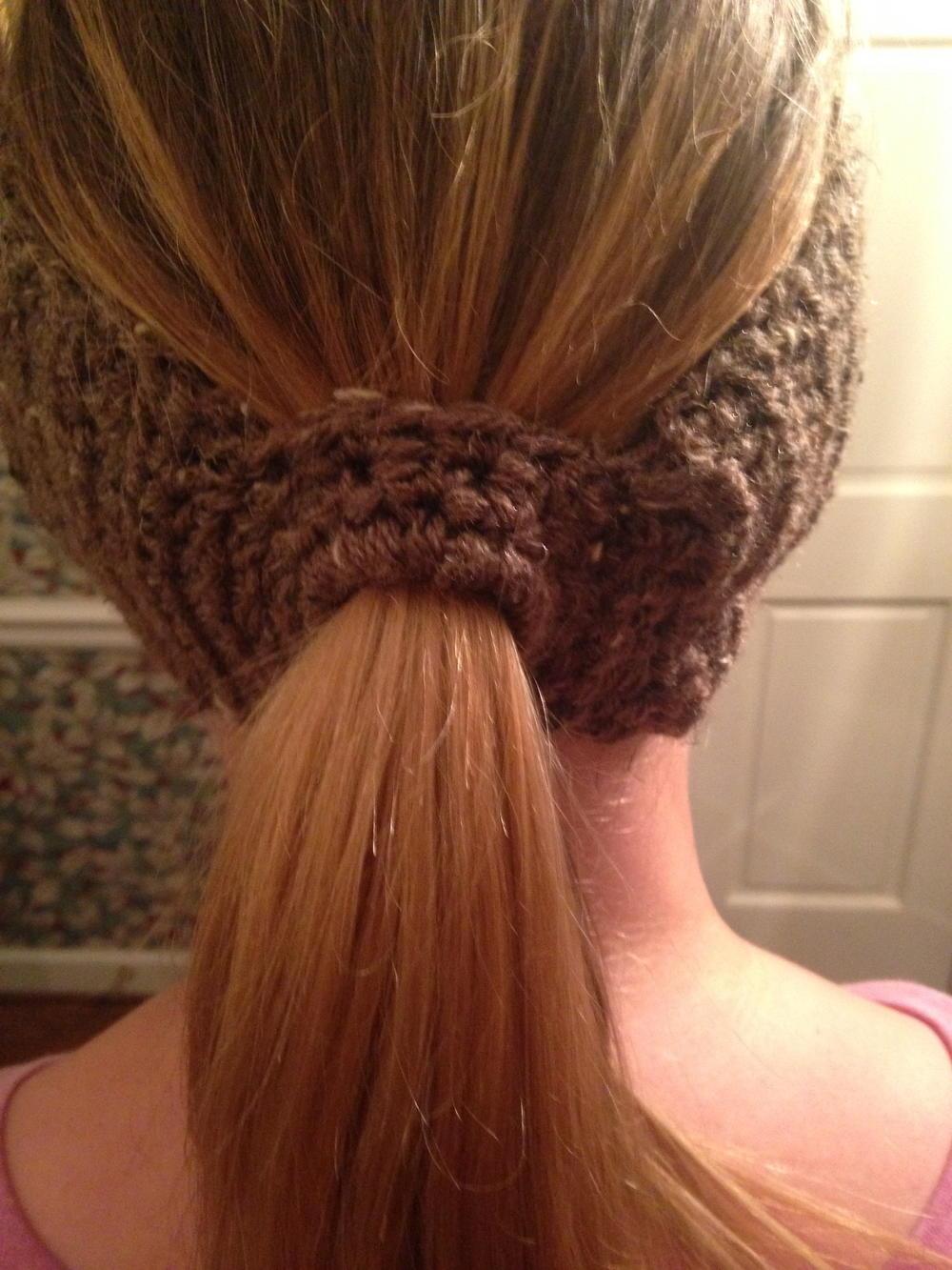 Basic Ponytail Headband Earwarmer Allfreecrochet Com