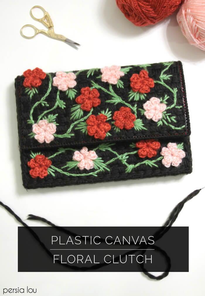 Floral Clutch Plastic Canvas Pattern Favecrafts Com