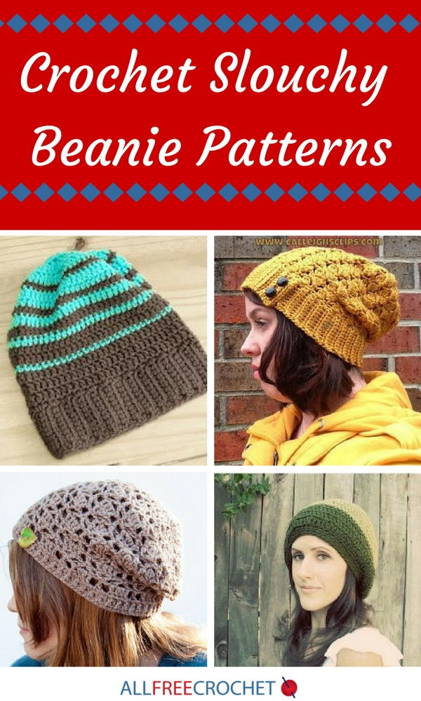 21 Crochet Slouchy Beanie Patterns  c55670aaa