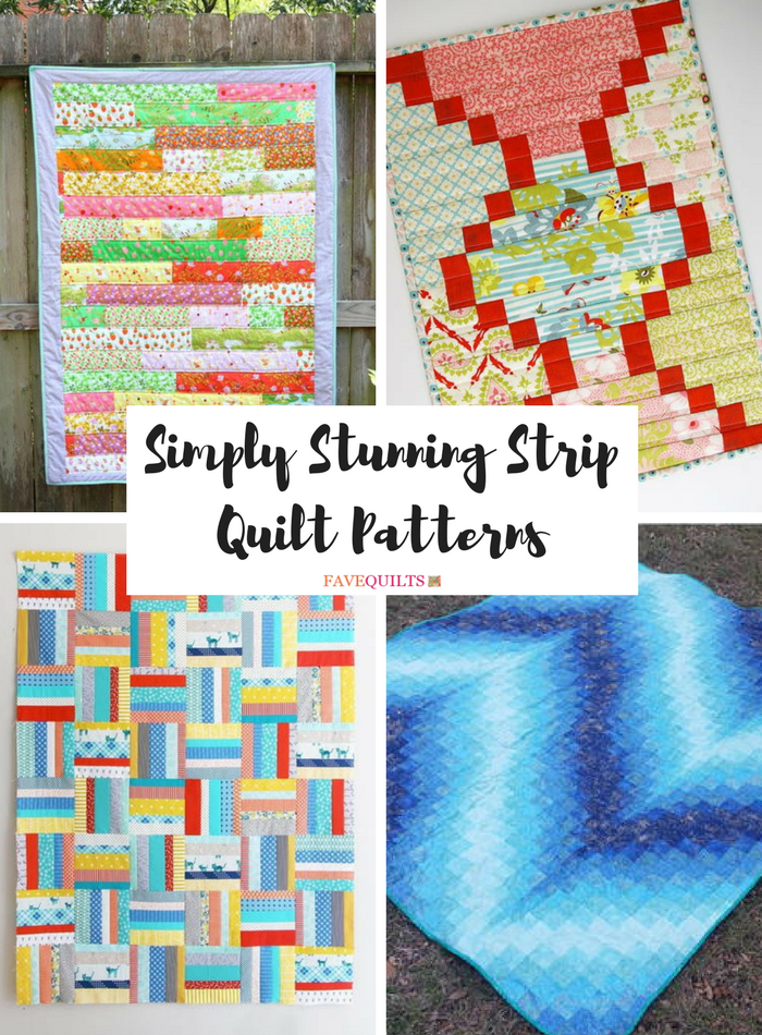 31 Simply Stunning Strip Quilt Patterns | FaveQuilts.com