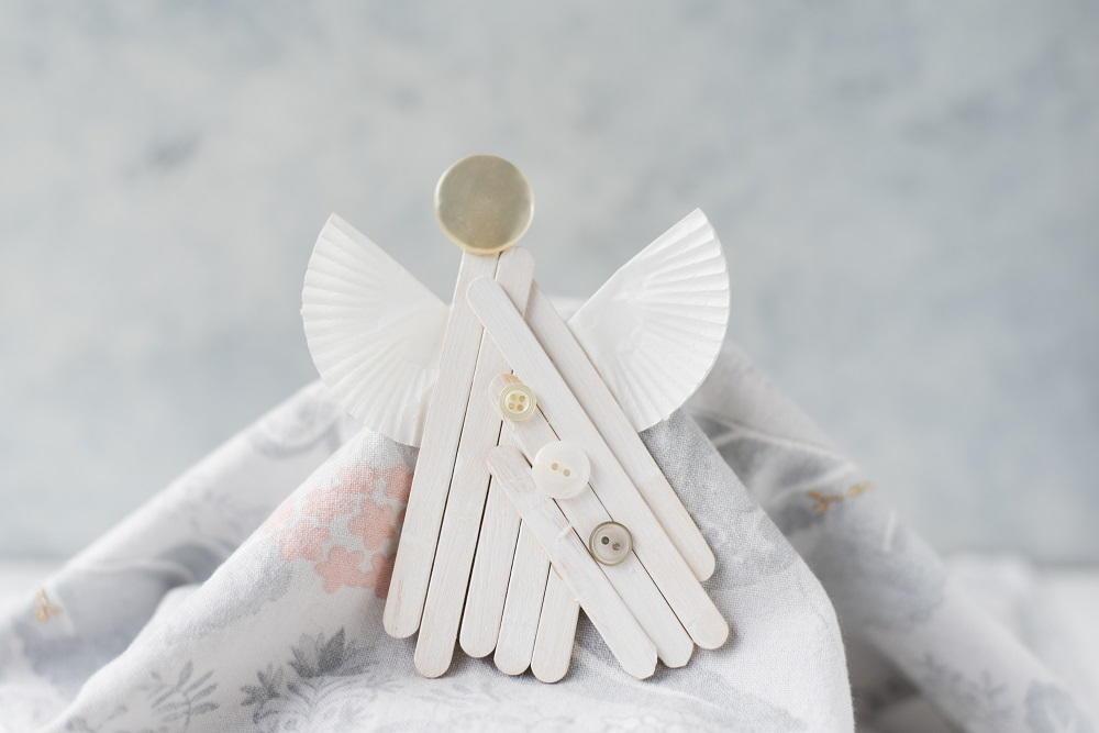 Popsicle Stick Angel Ornament Craft Favecrafts Com