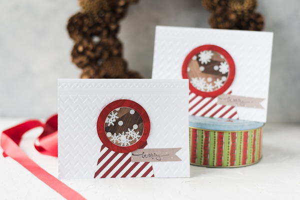 Christmas Snow Globe Shaker Card Tutorial