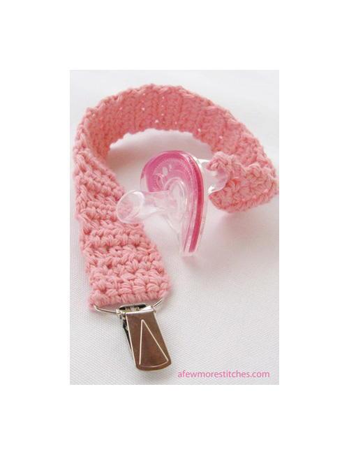 Crochet Pacifier Clip Allfreecrochetcom