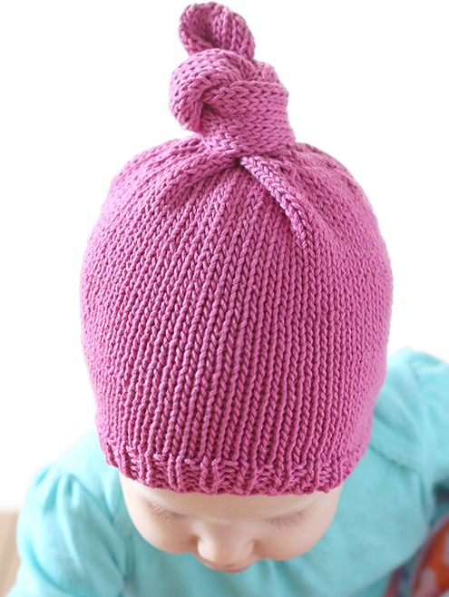 Top Knot Baby Hat Pattern  77e0e88c75d