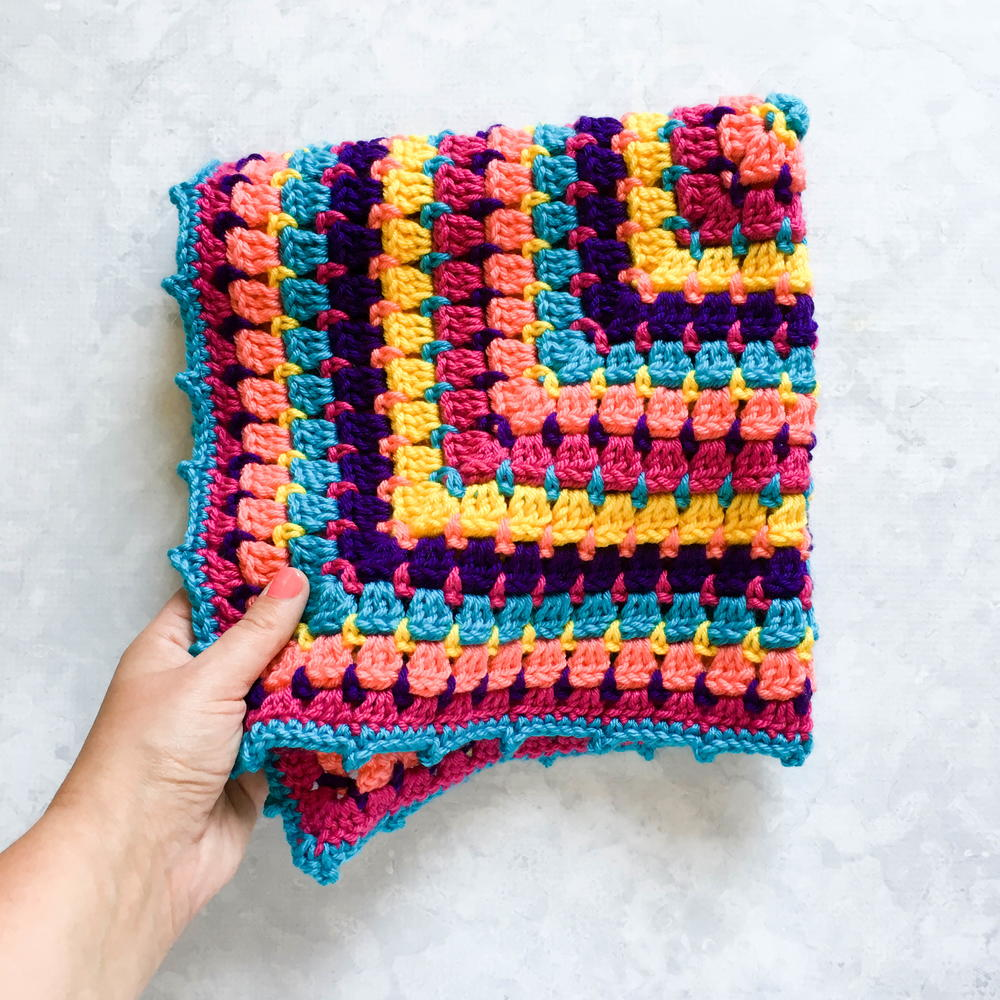 Building Blocks Baby Blanket Allfreecrochet Com