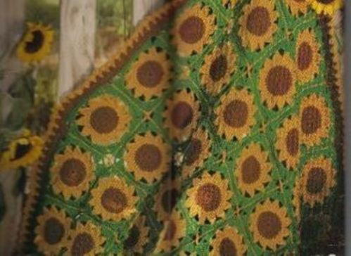 Crochet Sassy Sunflower Afghan Allfreecrochet Com
