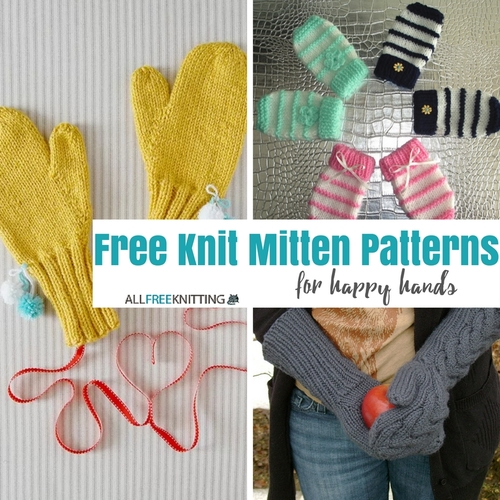 Knitting Pattern For Children s Mittens On Two Needles : Easy Two Needle Childrens Mittens AllFreeKnitting.com