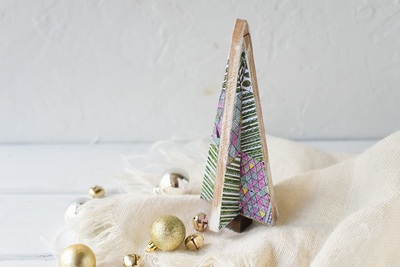 Coloring Page DIY Tabletop Christmas Tree