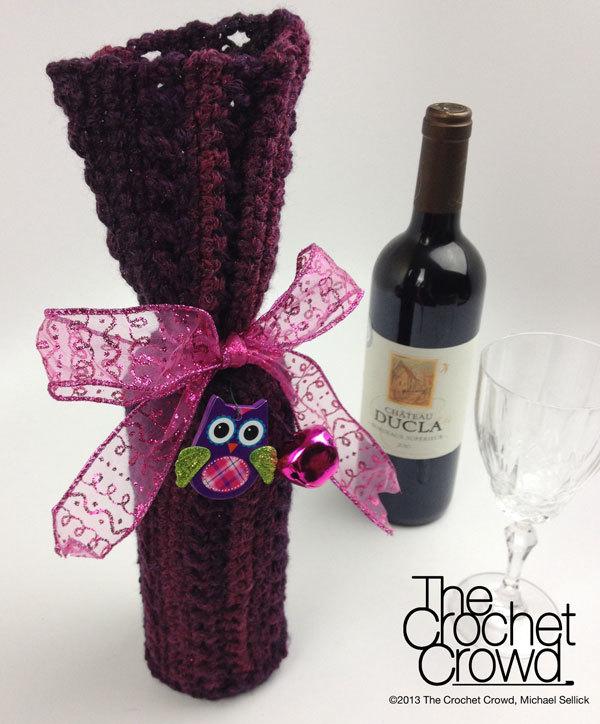 Single Skein Wine Bottle Cover Allfreecrochet Com