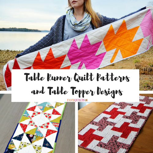 Quilted Round Table Toppers.30 Free Table Runner Quilt Patterns And Table Topper Designs