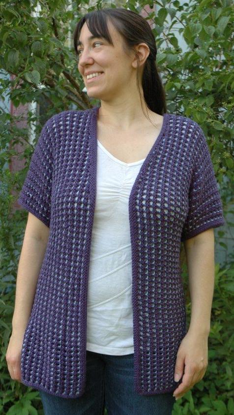 Simple Summer Cardigan Sweater Pattern | AllFreeKnitting.com