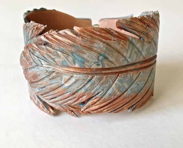Feather Clay Spring Hinge Bracelet Allfreejewelrymaking Com