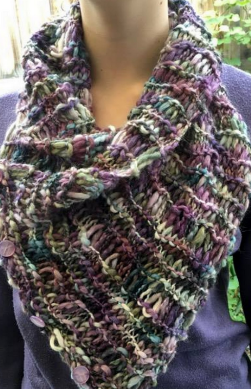 Cozy Triangle Knit Scarf Pattern Allfreeknitting Com