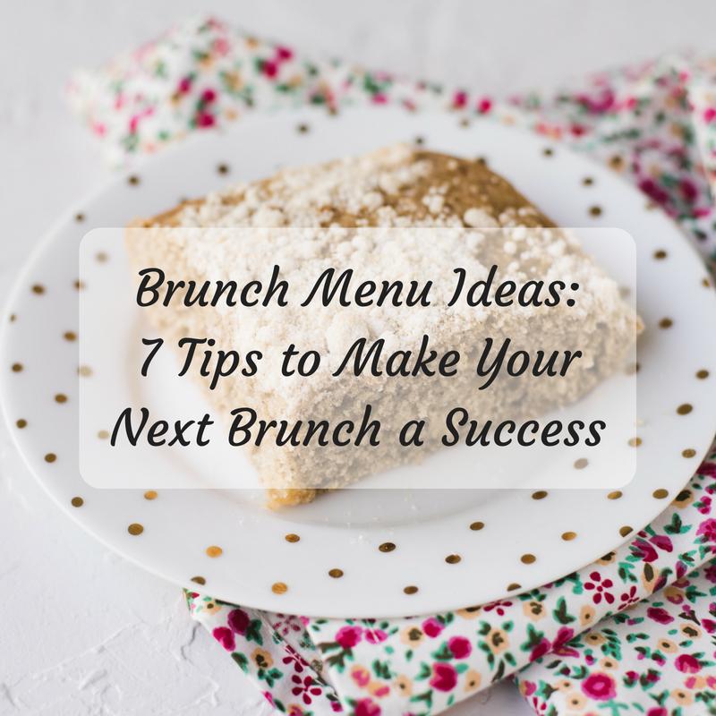 Brunch Menu Ideas