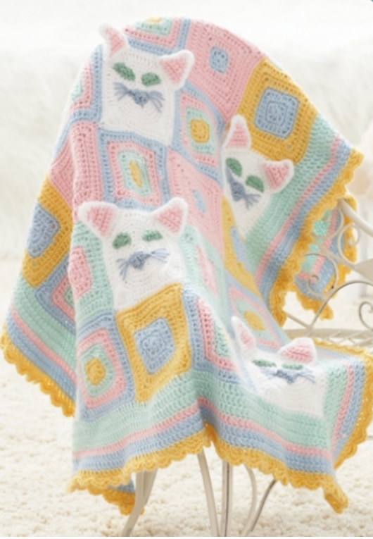 Cat Lady Afghan Allfreecrochetafghanpatterns Com