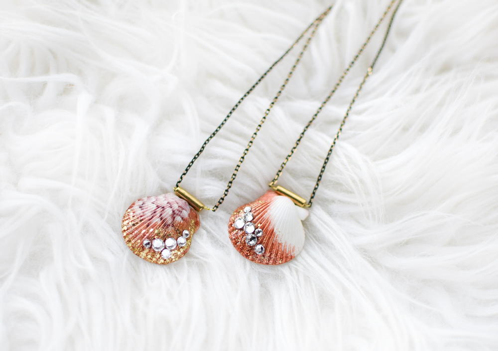 Shimmer Seashell Necklace Diy Favecrafts Com