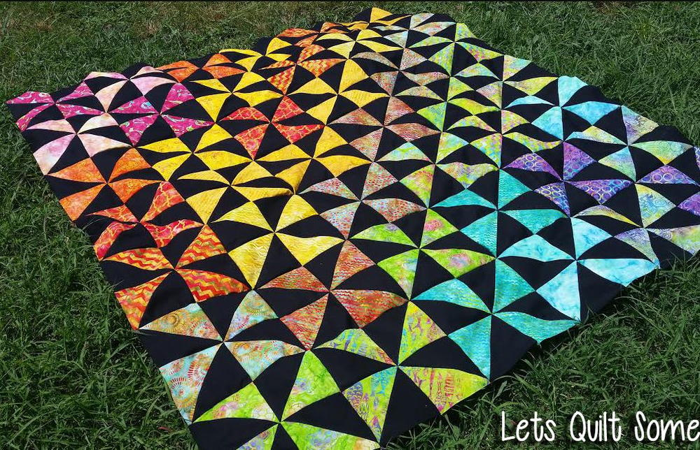 Rainbow Pinwheels Layer Cake Quilt Favequilts Com