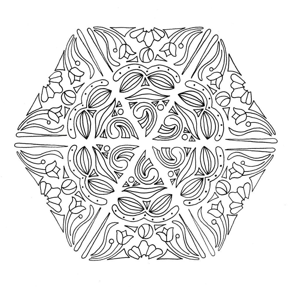 mandala magic adult coloring page favecraftscom