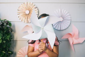 DIY Paper Pinwheels for Parties [Two Ways]