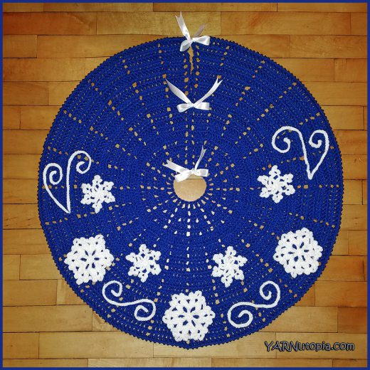 Fabulous Flurries Crochet Tree Skirt Allfreecrochet Com