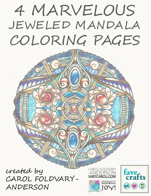 4 Marvelous Jeweled Mandala Coloring Pages